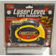 Laser Level Tape Measure Pro- 25' - New old stock, may need new batteries.