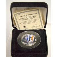 Tribute to Columbia Space Shuttle Jan. 16- Feb 1, 2003 JFK Half Dollar