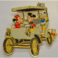 Mickey,Minnie and Gang in a Horseless Carriage Pin #5515