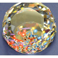"""Swarovski Crystal Arribas 2"""" Paperweight Mickey the Sorcerer. LE 1000/0093"""