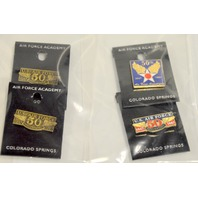9 Air Force Lapel  Pins - 50th Anniversary - 1 magnetic - 1 plastic the rest are pins.