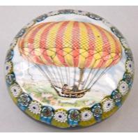 "Hot Air Balloon Paper Weight 4"" dia. x 2"" Tall -  No box"
