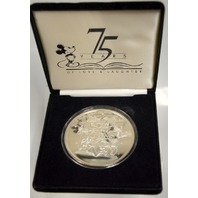Disney 75 Years of Love and Laughter 1923-1998-99.9 fine silver 5 Troy oz medallion
