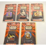 Star Wars Episode 1 Collector Pins  (5 ) Queen Amidala,C3PO,Naboo,Droid,Anakin