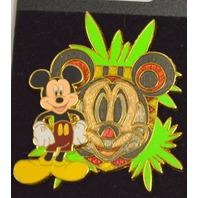 Disney Character Masks - Mickey Mouse Tiki Pin #41232