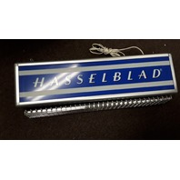 """Vintage Hasselblad Lighted Sign Advertising -  26"""" x 5"""" x 7"""" Fluorescent Fixture"""