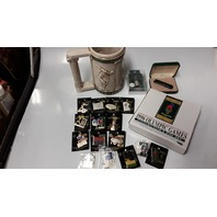 1996 Olympic Games Collectibles: Mug, Thimble, Knife, Pen Set + 15 Different Pins.