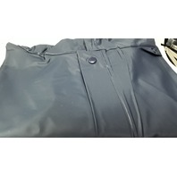 1 - Hooded Poncho - PVC Sideline Cape -  Color Navy Blue, No Sleeves