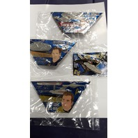Star Trek Collectibel Pins 4 pc set: Kirk, Archer, Janeway and Enterprise #10000