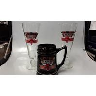Chicago Bulls Memorabilia: 1 Mug and 1 Beer Glasses.  All New.