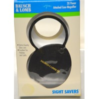Bausch & Lomb 2X Power Glass Lens, with Attached Case Magnifier #81-26-05
