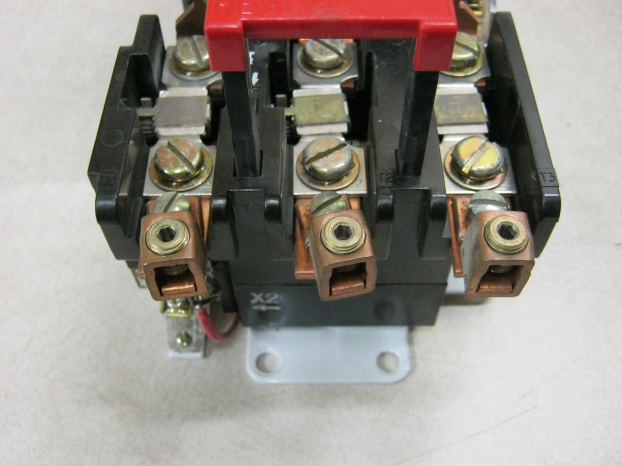 Square d nema size3 50 hp max motor starter class 8536 for Square d motor starter