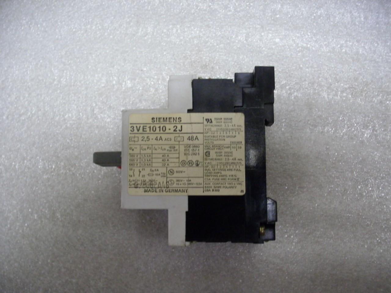 Siemens manual motor starter 3ve1010 2j ebay for Siemens motor starter catalog pdf