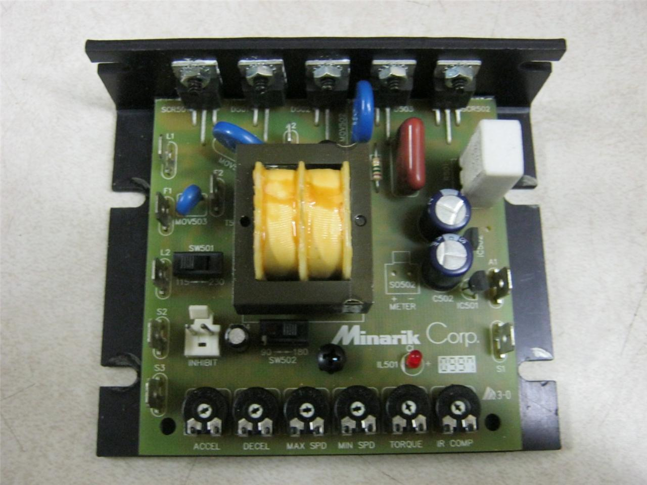 Minarik corp dc motor speed controller mm23001c daves for Industrial dc motor controller