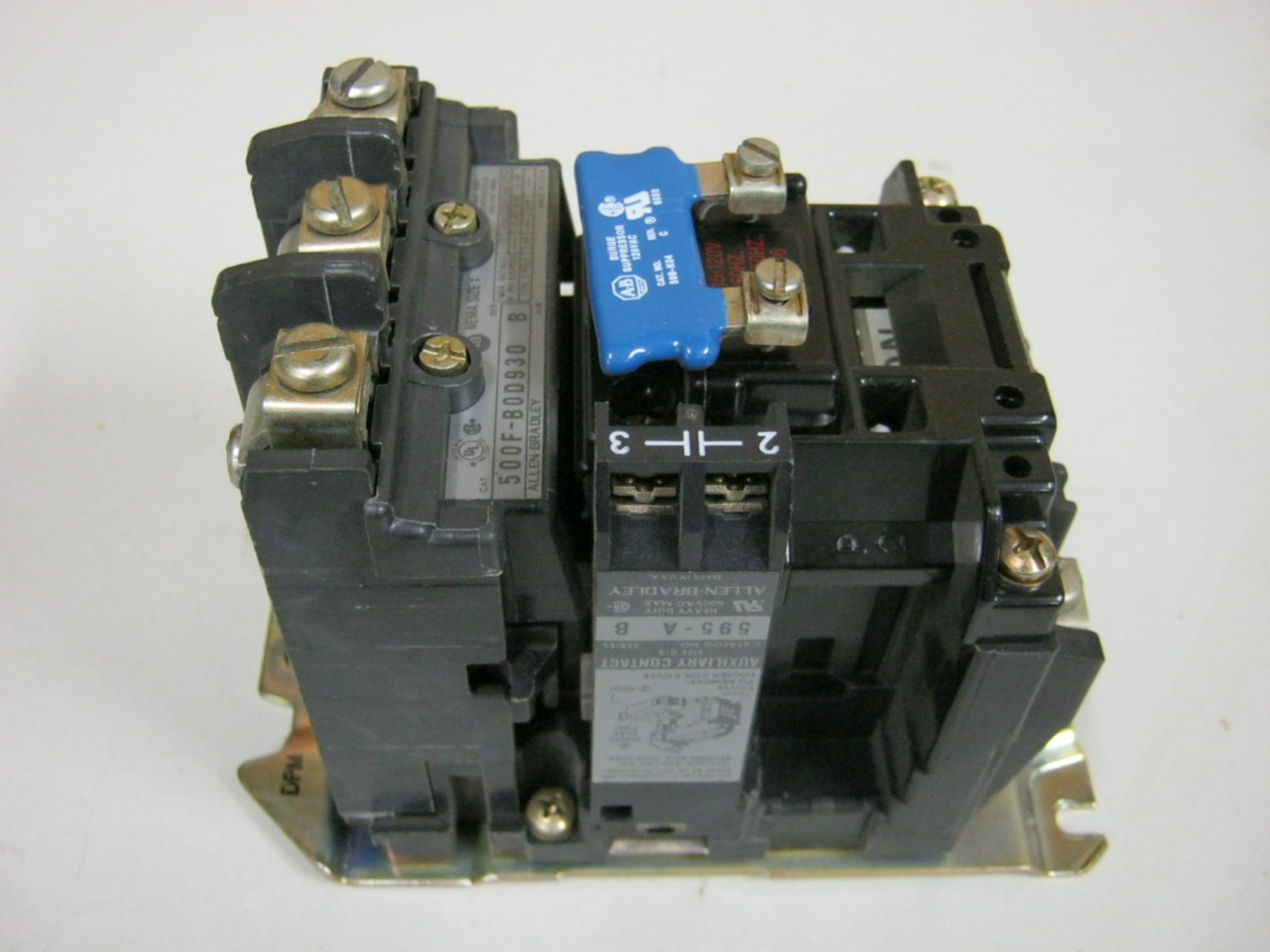 Allen Bradley 500f Bod930 Nema Size 1 Motor Starter 600 Vac 27 Amp120 Volt Coil Ebay