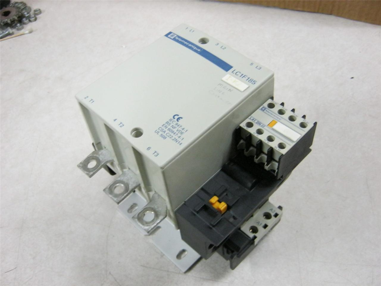 Telemecanique lc1f185 motor starter 50 150 hp ebay for 50 hp motor starter