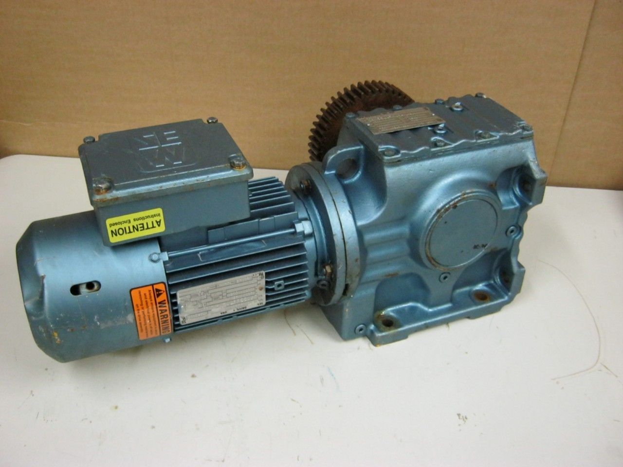 Sew Eurodrive 1 Hp Electric Motor Reduction Gear Daves