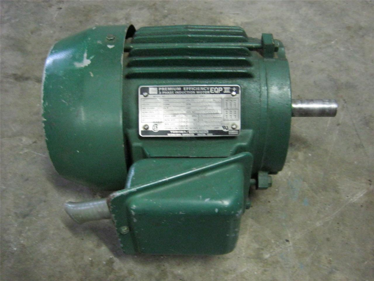 toshiba peremium efficiency 3 phase induction motor eqp3 1