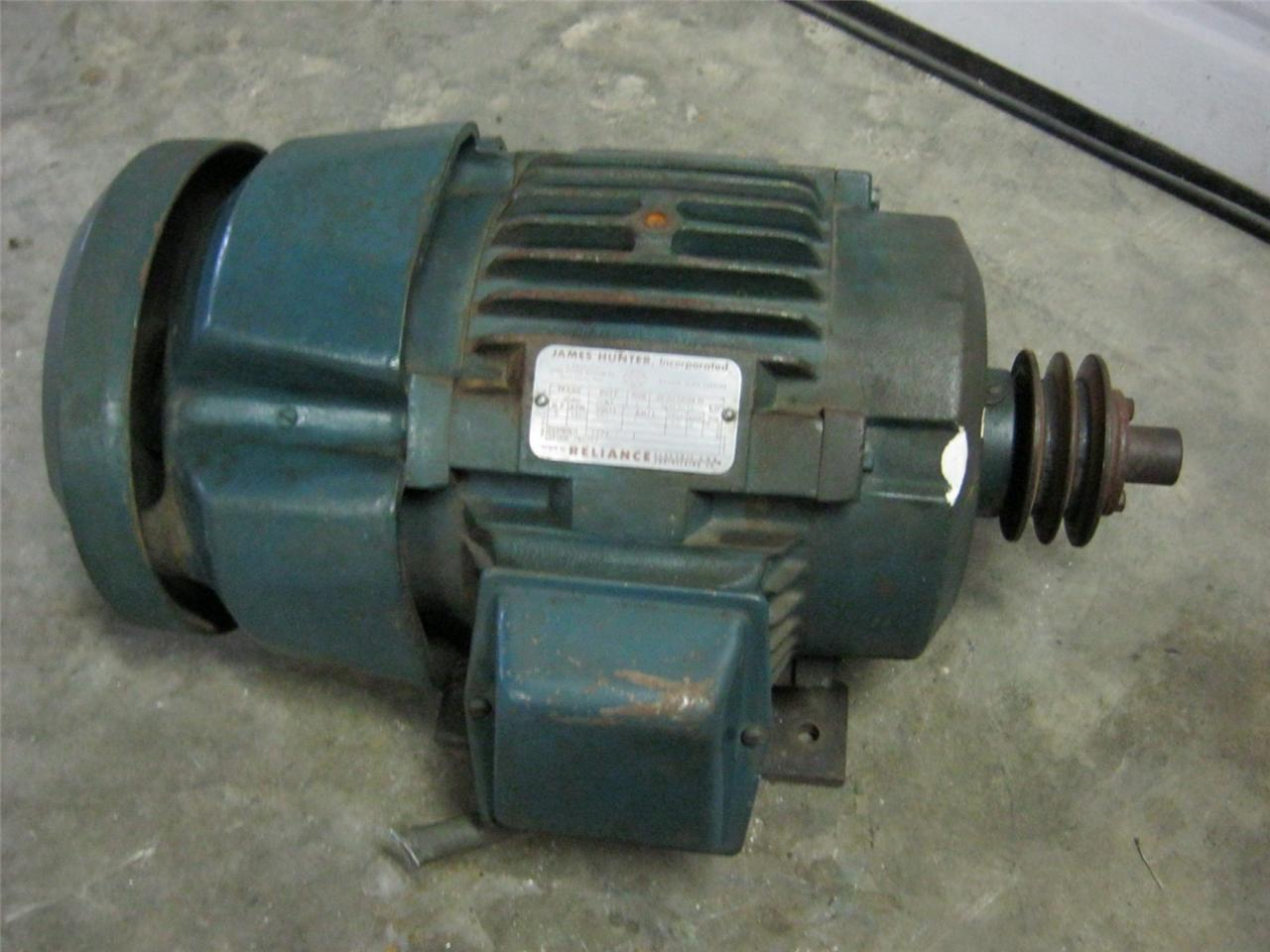 Reliance 5 hp 1160 rpm 550 volts 6 amps motor daves for 5 hp motor amps