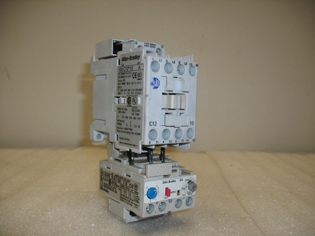 Allen bradley 100 c09 10 relay contactor daves for Allen bradley motor overload