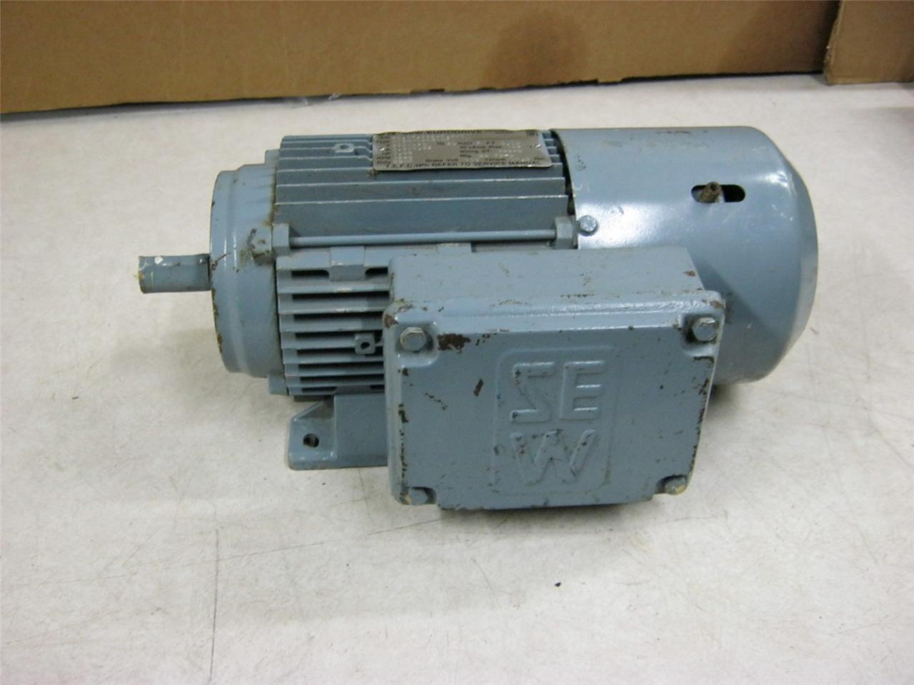 Sew eurodrive motor dt80n4bmg1hf 1hp 1680 rpm 3 ph ebay for Sew motors and drives