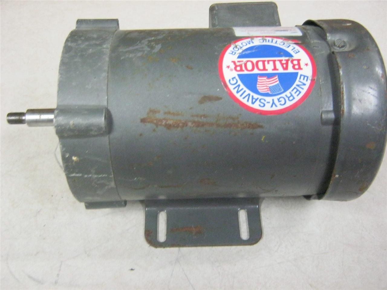 Baldor cjm3542 75 hp 3 4 hp 208 230 460 volt 1725 rpm for Used industrial electric motors