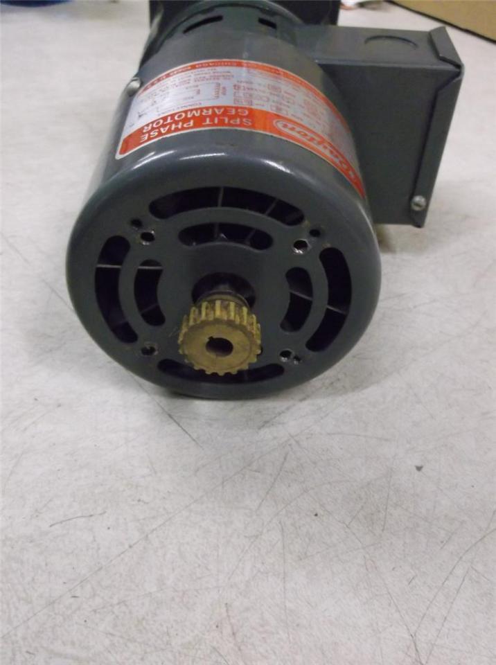 Dayton 6k301 split phase gear motor 1 15 hp ebay for 15 hp single phase motor