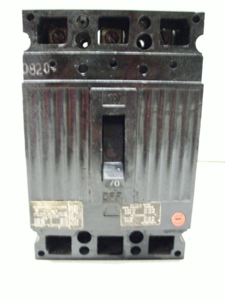 General Electric 70 AMP Circuit Breaker TED134070 600 V