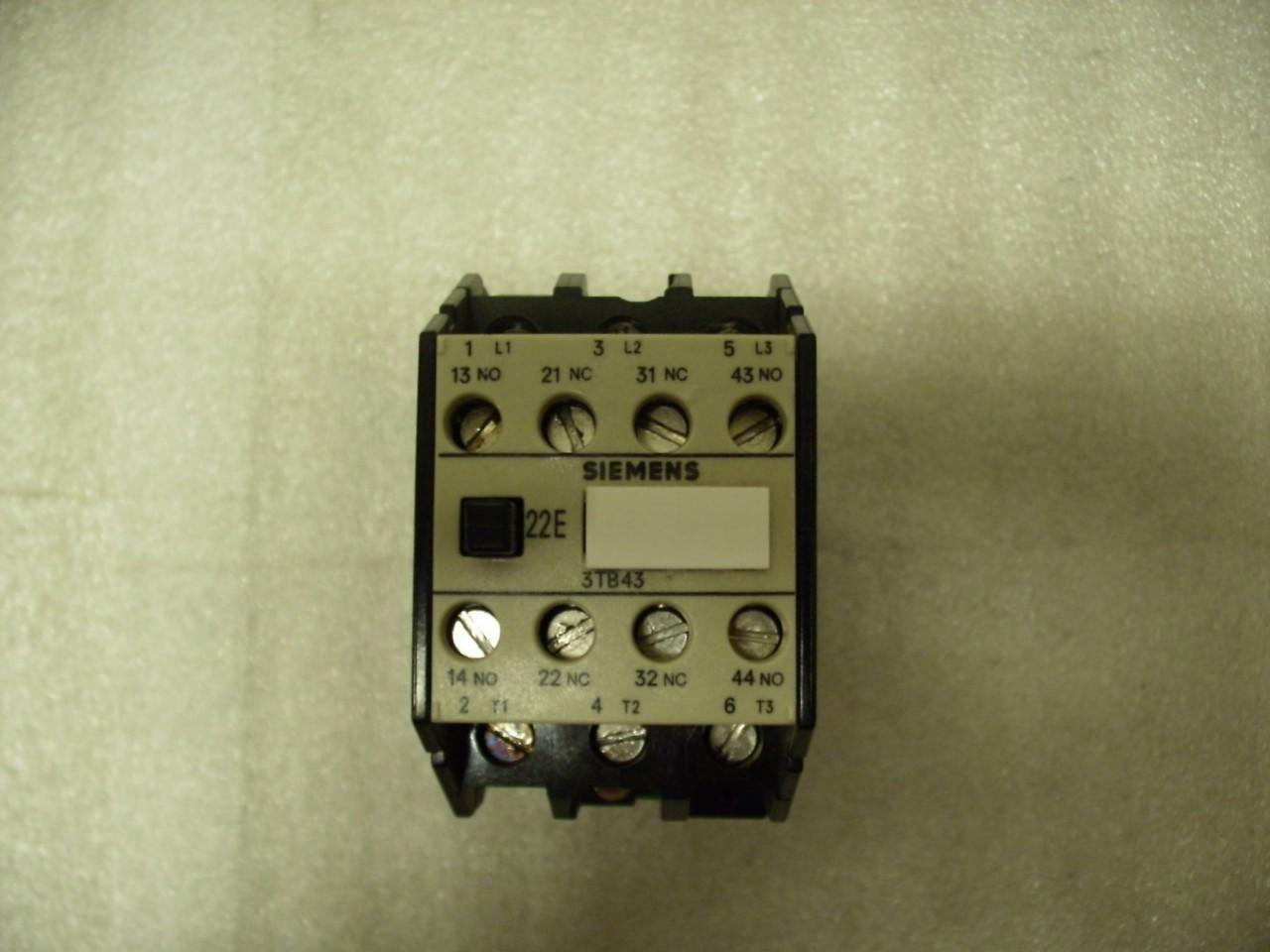 Siemens 3tb43 17 0b Contactor