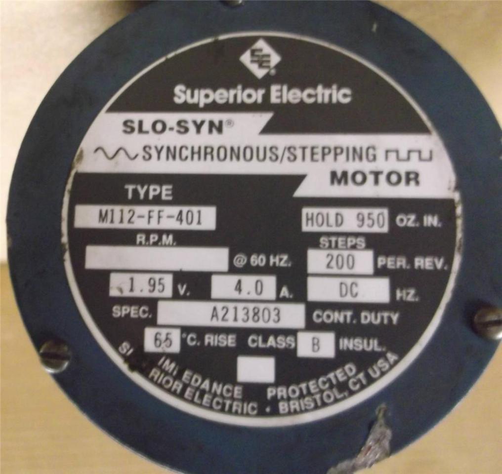 Superior Electric Motor M112 Ff 401 4a Ebay