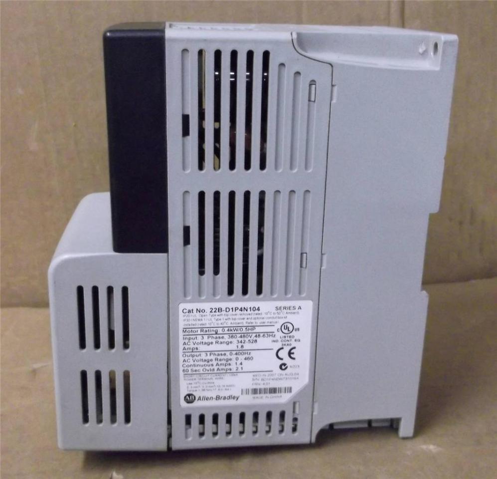 ALLEN BRADLEY 22B-D1P4N104 POWERFLEX 40 AC DRIVE  5Hp