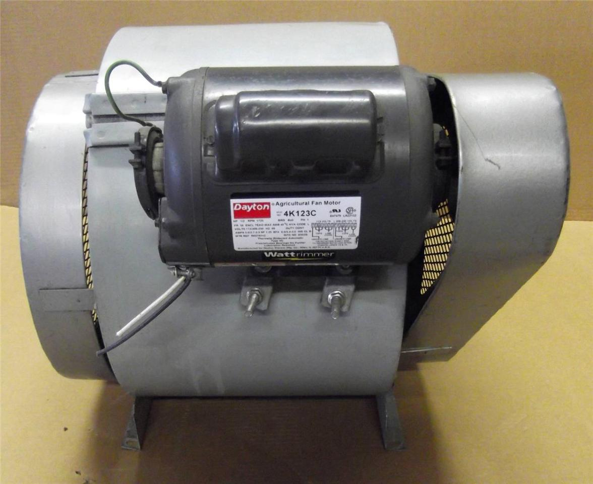 Dayton 4tm02 blower w dayton 4k123c 1 2 hp motor ebay for 2 hp blower motor
