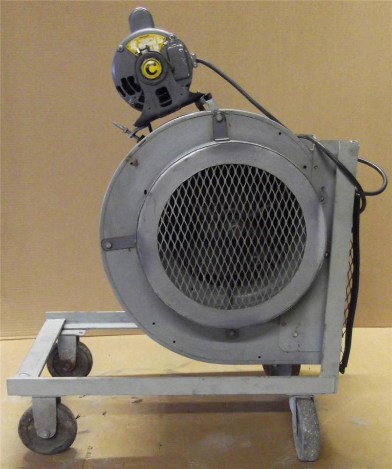 Dayton Electric Blowers : Dayton c blower w century hp motor on mobile cart