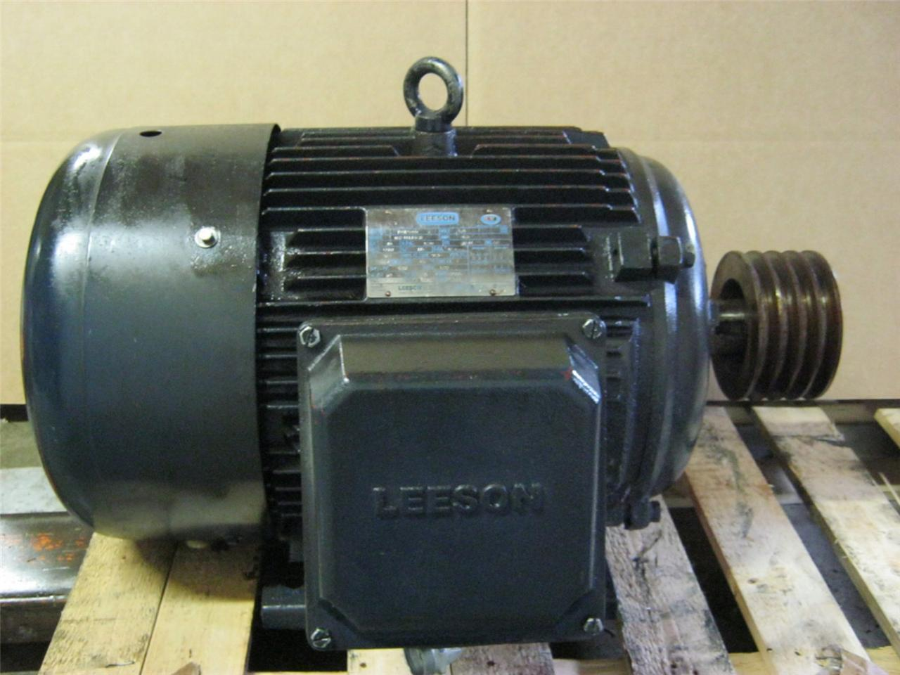 leeson 40 hp electric motor model n324t17fb3b 3 phase