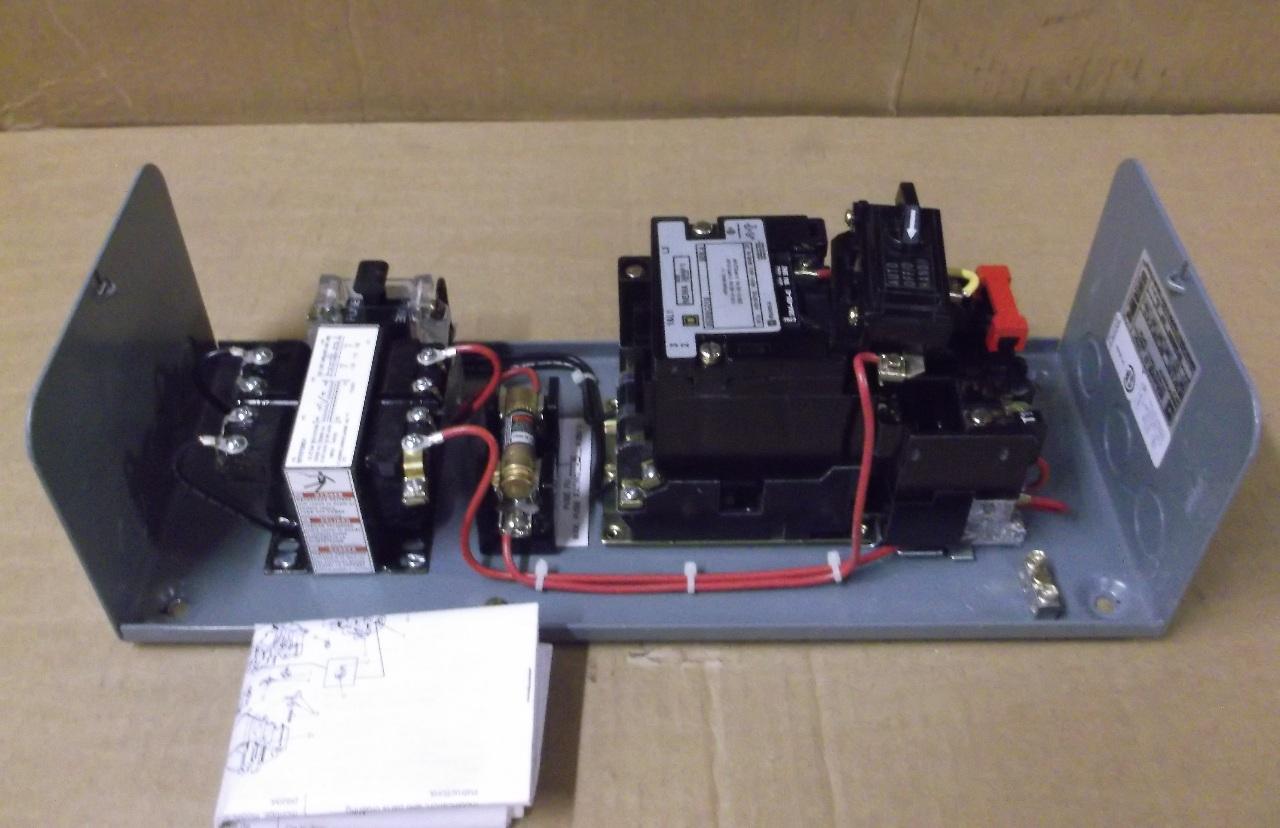 Square d combo w motor starter nema size1 model for Square d combination motor starter