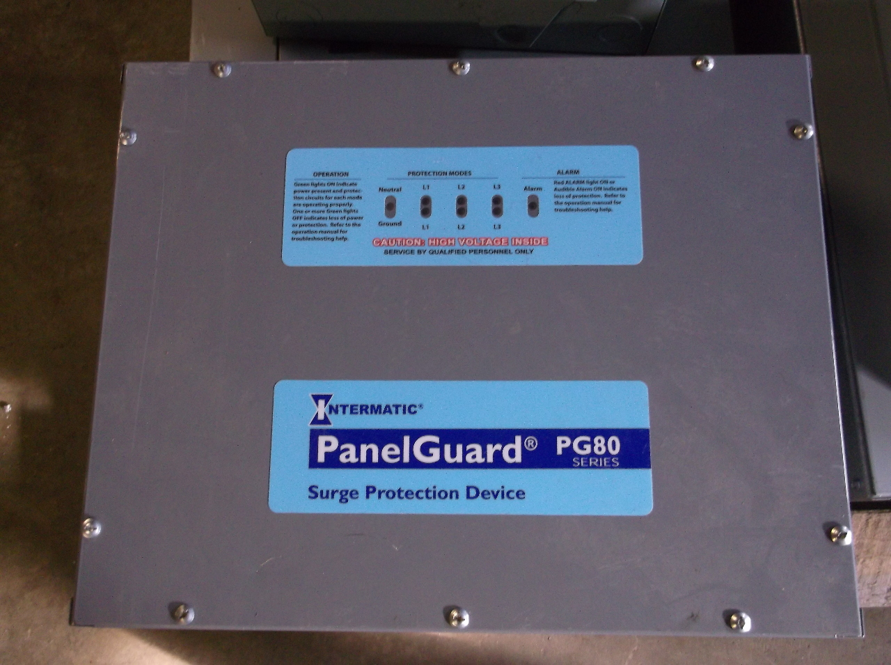 Intermatic PG80-480-3Y Panel Guard Surge Suppression System 277/480V ...