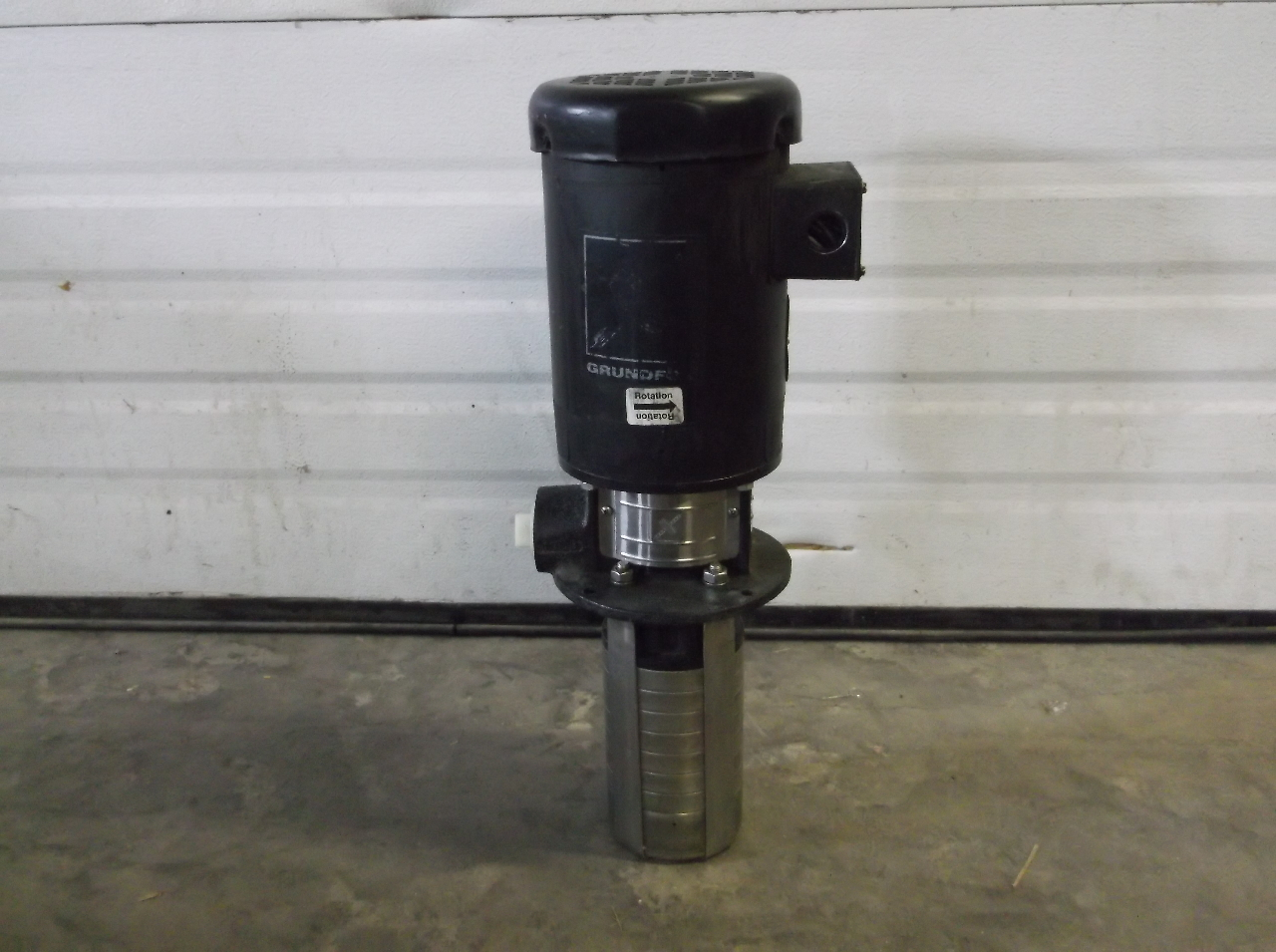 Grundfos crk2 60 verticle high presure pump baldor 1 5 hp for Baldor 1 5 hp motor