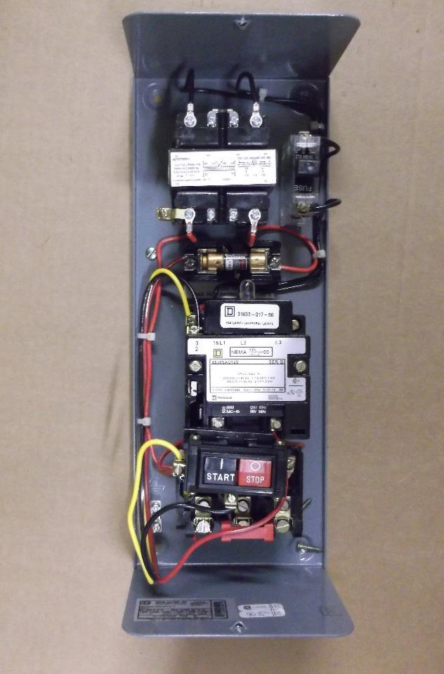 Square D Combo W Motor Starter Size 00 Model