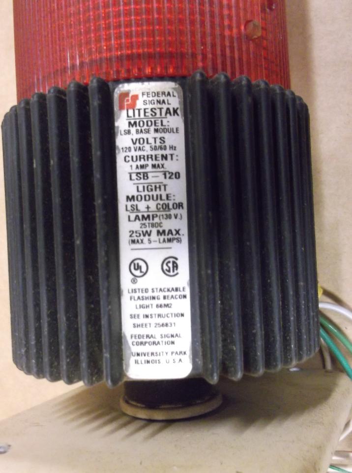 federal signal beacon stack light litestak lsb 120 red. Black Bedroom Furniture Sets. Home Design Ideas