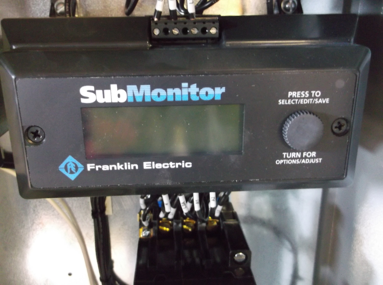 Franklin Electric Submonitor Control Panel Model 281 104
