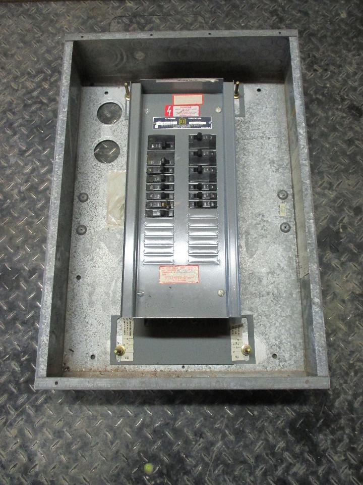 Square D Nqob 100a Panelboard Cat 56188 3b5 W Encl 120