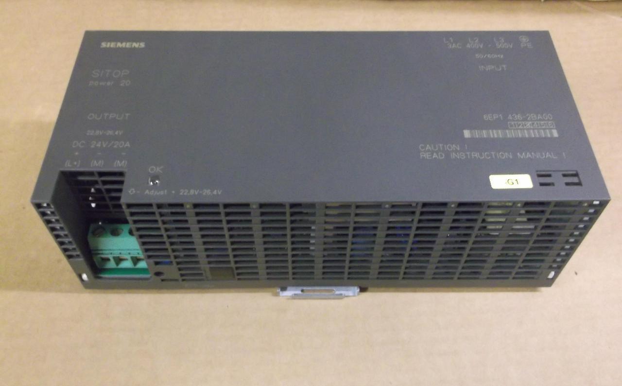 Siemens 6ep1436 2ba00 Sitop Power 20 Power Supply 24 Vdc