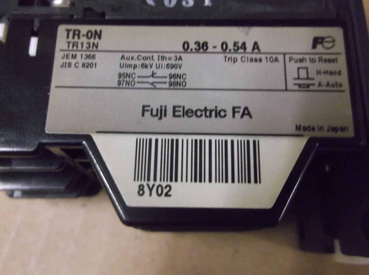 FUJI Thermal Overload Relay TRON TRN  Amp EBay - Working principle of overload relay