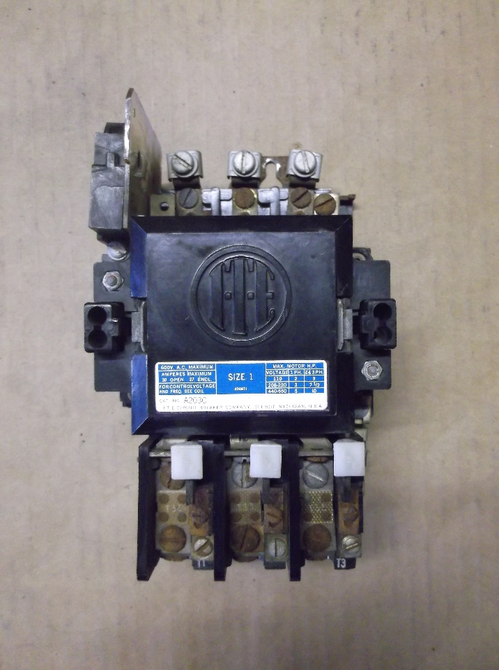 Ite daves industrial surplus llc for Size 1 motor starter
