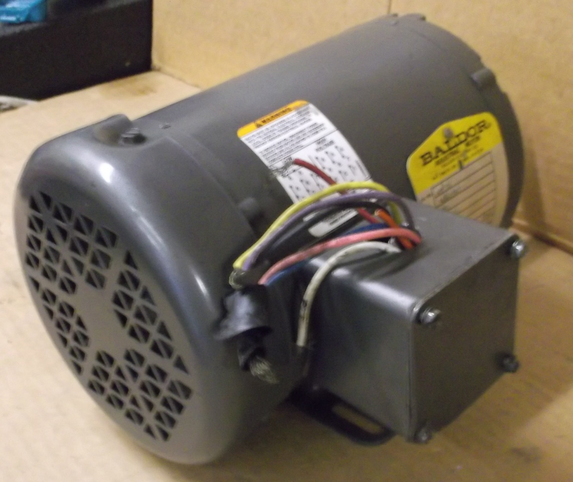 Baldor electric motor 1 2 hp 3 phase 230 460 volt for Dc motor 1 3 hp