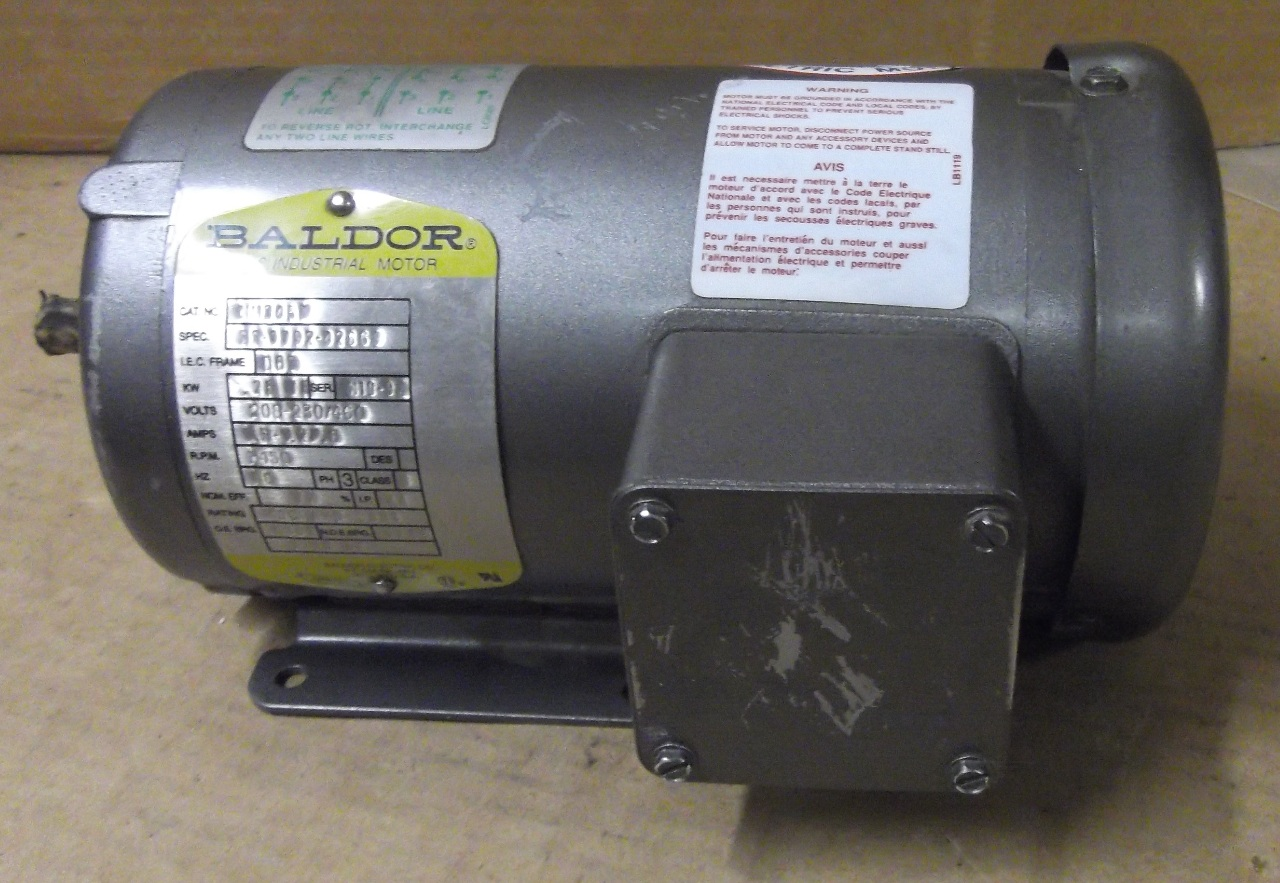 Baldor electric motor mm3457 3 phase 208 for 3 phase dc motor