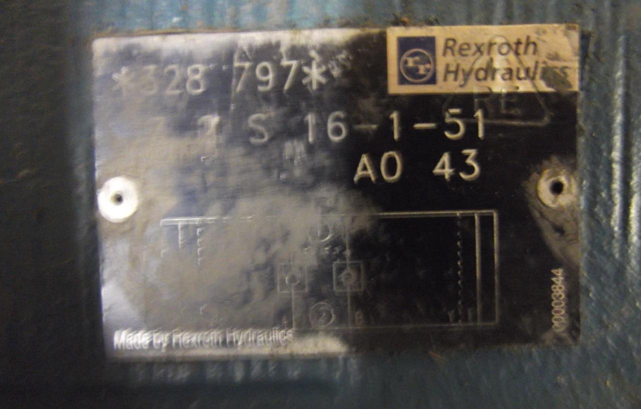REXROTH HYDRAULIC VALVE Z2S 16-1-51 A0 43