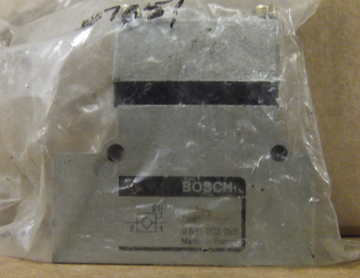 BOSCH REXROTH PNEUMATICS 0821003028 CHECK VALVE G 1/2 PILOT OPERATED
