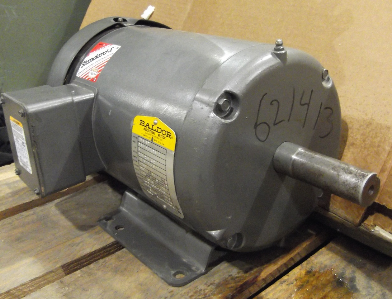 Baldor electric motor cat m3615t 5hp 3 phase 208 for Baldor industrial motor parts