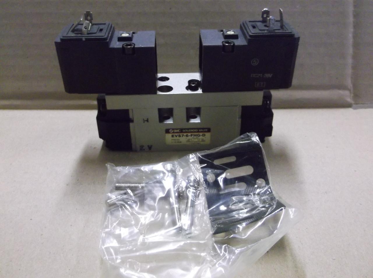 Smc Evs7 6 Fhg D Solenoid Single Valve Iso 1 9 9 Bar W